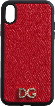 two-tone logo plaque iPhone case - Red