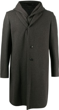 double-layer single-breasted coat - Grey