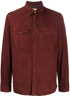 snap-button shirt - Red