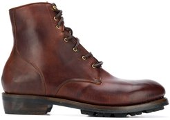 ankle lace-up boots - Brown