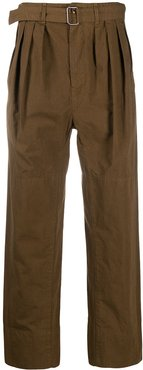 4-Pleats Water-Repellent trousers - Brown