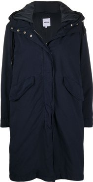 midi-length parka coat - Blue