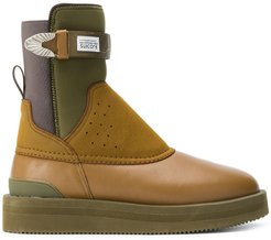 perforated panel ankle boots - Brown