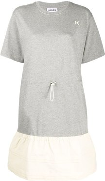 drawstring T-shirt dress - Grey