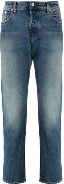 organic bleached slim jeans - Blue