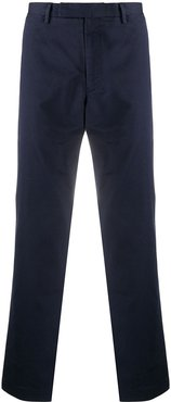 straight-leg mid-rise chinos - Blue