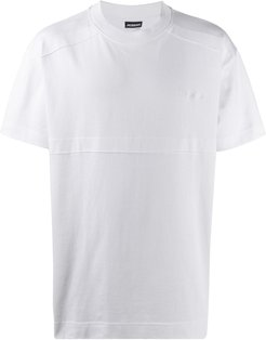 embroidered-logo cotton T-shirt - White