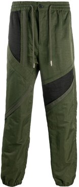 deconstructed track trousers - Green