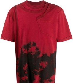 abstract print T-shirt - Red