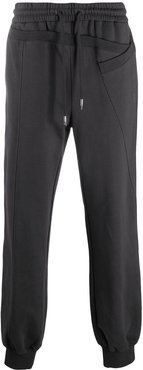 panelled drawstring trousers - Grey