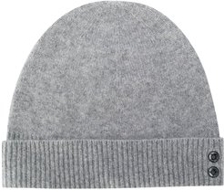 ribbed knit beanie hat - Grey