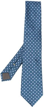 embroidered suit tie - Blue