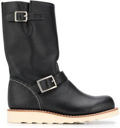 Classic Engineer leather boots - Black