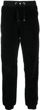 fleece panelled track pants - Black