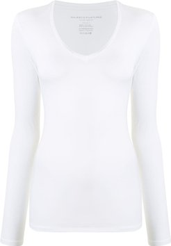 long-sleeve T-shirt - White