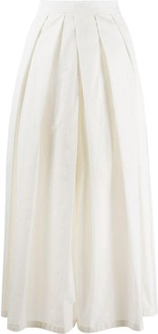straight-fit skirt - White