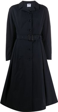 belted trench coat - Blue