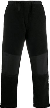 buckle-fastening panelled trousers - Black