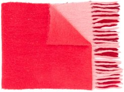 Firna fringed-edge scarf - Red