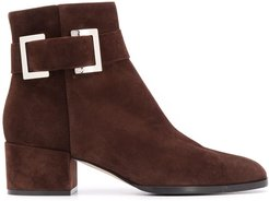 Prince buckle boots - Brown