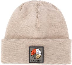 logo patch beanie - Neutrals