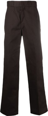 loose fit wide leg trousers - Brown