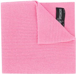 ribbed-knit scarf - PINK