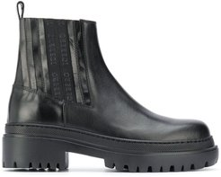 chunky sole chelsea boots - Black