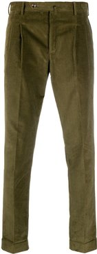 slim-fit corduroy trousers - Green