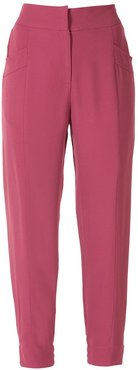 Manuela slim trousers - Red