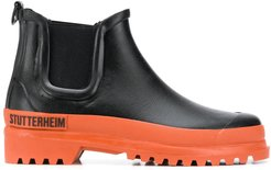 chunky two-tone Chelsea boots - Black
