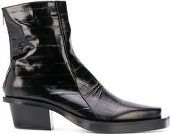 statement ankle boots - Black