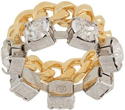 crystal chain ring - GOLD