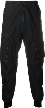 cropped cargo trousers - Black