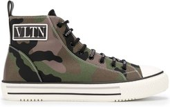 Giggies high-top camouflage sneakers - Green