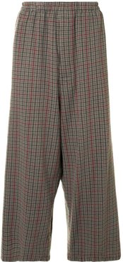 check oversized trousers - Multicolour