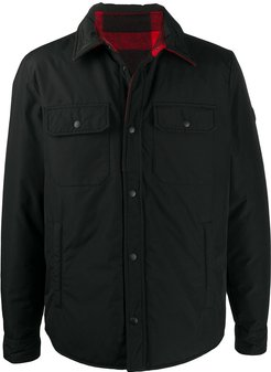 single-breasted fitted coat - Black