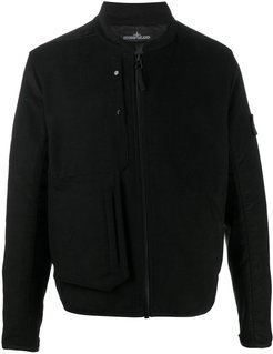 fitted zipped jacket - Black