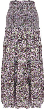 Impression dot-print skirt - Black