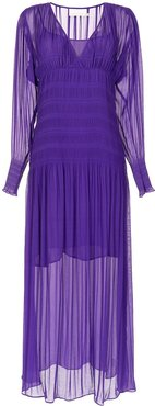 Evolution pleated gown - PURPLE