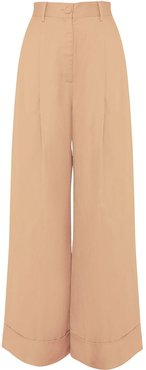 Perpetual wide-leg trousers - Brown