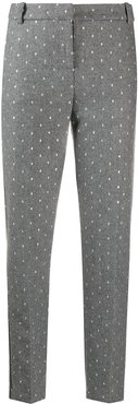 embroidered tailored trousers - Grey