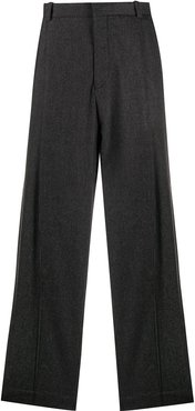 Brittanica houndstooth wide-leg trousers - Grey