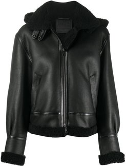 sheepskin jacket - Black