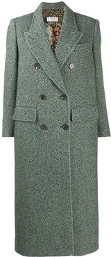 double-breasted wool coat - Green