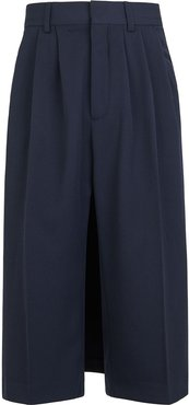 tailored cape trousers - Blue