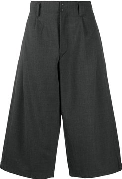 cropped wide-leg trousers - Grey