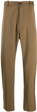 straight-leg tailored trousers - Neutrals