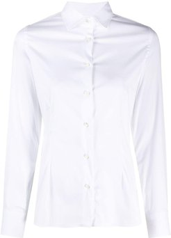 fitted long-sleeve shirt - White