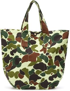 camouflage tote bag - Green